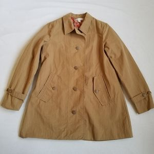 Coldwater Creek short trench coat beige elephant 8